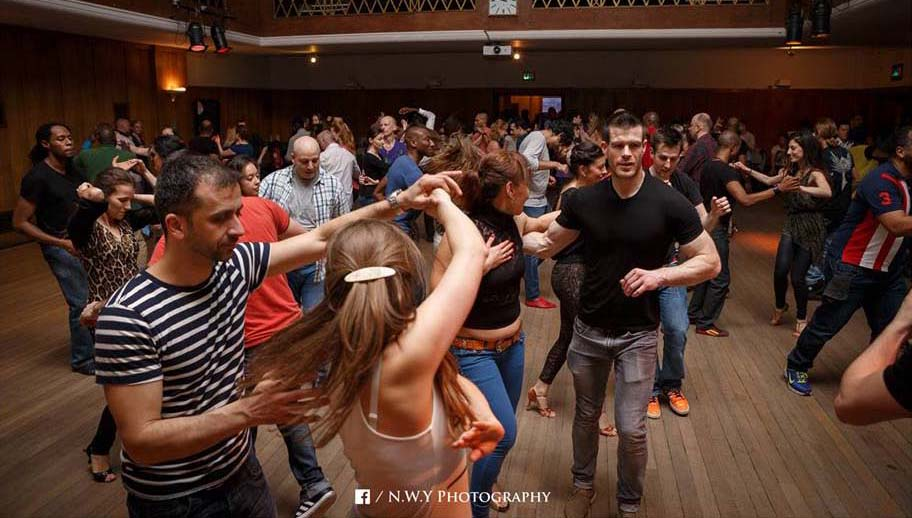 People social dancing salsa at Pexava dance holborn